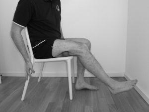 Triggerpunkte im biceps femoris bei einem Läuferknie
